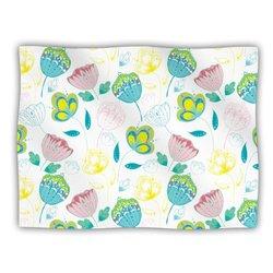 """Kess InHouse Anneline Sophia """"Indie Floral"""" Blanket, 60 by 50-Inch"""