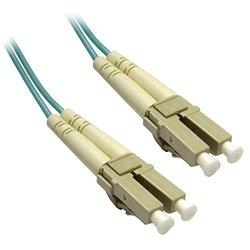 C&E LC/LC 6-Meters Multimode Duplex Fiber Optic Cable 10-Gigabit Aqua 50/125, (CNE72579)
