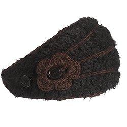 FU-R Headwear Turtle Fur Women's Flora Headband, Black, One Size