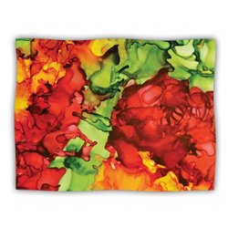 """Kess InHouse Claire Day """"One Love Red Orange"""" Blanket, 60 by 50-Inch"""