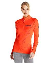 adidas outdoor Women's Terrex Swift Icesky Long sleeve II Top, Solar Red, Large
