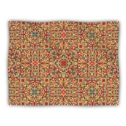 "Kess InHouse Allison Soupcoff ""Circus Orange"" Blanket, 60 by 50-Inch"