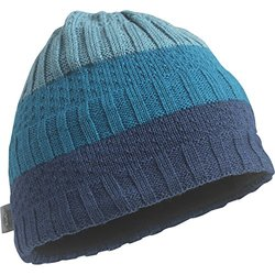 Turtle Fur Graded Stakes Merino Wool Knit Beanie - Kingfisher