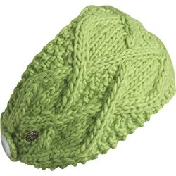 FU-R Headwear Women's Feel My Flow Lightweight Hand Knit Headband - Lime