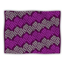 "Kess InHouse Deepti Munshaw ""Pattern No.2 Chevron Purple"" Blanket, 60 by 50-Inch"