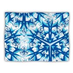 """Kess InHouse Miranda Mol """"Winter Mountains"""" Fleece Blanket, 60 by 50-Inch"""