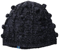 FU-R Headwear Women's Hubble Bubble Hand Knit Beanie, Black, One Size