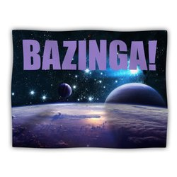 "Kess InHouse KESS Original ""Bazinga Purple"" Space Fleece Blanket, 60 by 50-Inch"