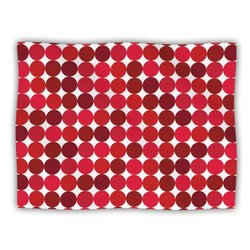 "Kess InHouse KESS Original ""Noblefur Red"" Dots Fleece Blanket, 60 by 50-Inch"
