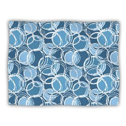 "Kess InHouse Julia Grifol ""Simple Circles in Blue"" Blanket, 60 by 50-Inch"