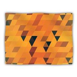 """Kess InHouse Danny Ivan """"Gold Pattern"""" Blanket, 60 by 50-Inch"""