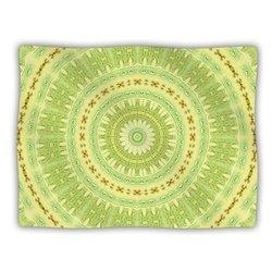 "Kess InHouse Iris Lehnhardt ""Wheel of Spring Circle Green"" Blanket, 60 by 50-Inch"