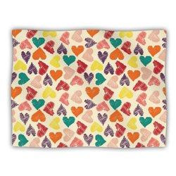 """Kess InHouse Louise Machado """"Little Hearts"""" Fleece Blanket, 60 by 50-Inch"""