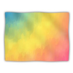 "Kess InHouse Fotios Pavlopoulos ""Watercolor Layers Rainbow"" Blanket, 60 by 50-Inch"