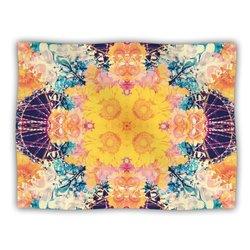 """Kess InHouse Danii Pollehn """"Unbenannt Purple Orange"""" Blanket, 60 by 50-Inch"""