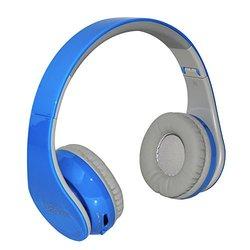 Beyution Bluetooth On-Ear Headphones w/ Mic - Blue (BT513-Blue-beyution)