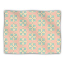 "Kess InHouse Deepti Munshaw ""Pattern No.1 Green Beige"" Blanket, 60 by 50-Inch"
