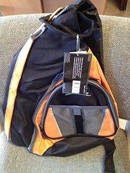Access Extreme Bag n' Pack Backpack #90717 Black/ Orange/ Grey