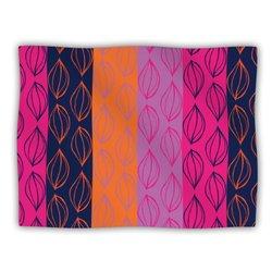 """Kess InHouse Anneline Sophia """"Tropical Seeds Pink Orange"""" Blanket, 60 by 50-Inch"""