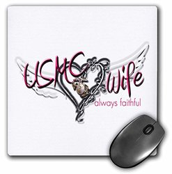8 x 8 x 0.25 Inches Mouse Pad, USMC Wife Always Faithful (mp_123048_1)