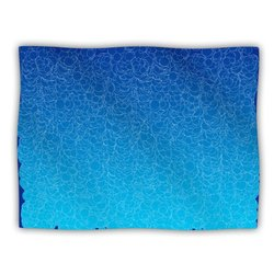 "Kess InHouse Frederic Levy-Hadida ""Bubbling Blue"" Blanket, 60 by 50-Inch"