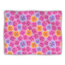 "Kess InHouse Julia Grifol ""My Pink Garden"" Blanket, 60 by 50-Inch"