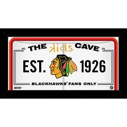 "NHL Chicago Blackhawks Kids Cave Sign, White, 10"" x 20"""