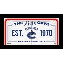 "NHL Vancouver Canucks Kids Cave Sign, White, 10"" x 20"""