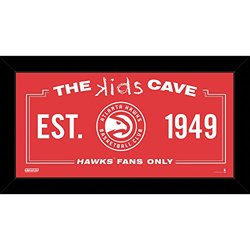 "NBA Atlanta Hawks Kids Cave Sign - Red - Size: 10"" x 20"""