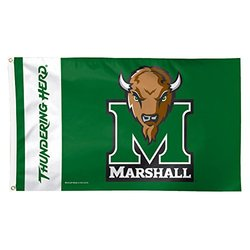 NCAA Marshall Thundering Herd Flag Deluxe, 3 x 5-Foot