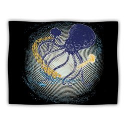 "Kess InHouse Frederic Levy-Hadida ""Tentacular Trap Octopus"" Blanket, 60 by 50-Inch"