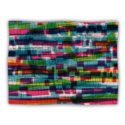 "Kess InHouse Frederic Levy-Hadida ""Squares Traffic Pastel"" Blanket, 60 by 50-Inch"