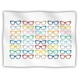 "Kess InHouse Project M ""Rainbow Specs"" Fleece Blanket, 60 by 50-Inch"