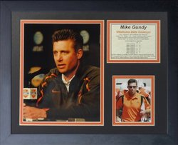 """Legends Never Die Mike Gundy OSU Coach Framed Photo Collage - 11 x 14"""""""