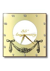 dpp_195777_3 Print of Gold with Ribbon Swag for Year 35 Wall Clock, 15 by 15""