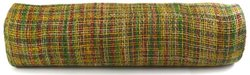 Kel-Toy Mixed Color Jute Burlap Ribbon Roll, 18-Inch by 10-Yard, Green/Burgundy/Yellow