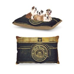 "Kess InHouse Robin Dickinson ""Discarded Treasure"" Vintage Camera Dog Bed"