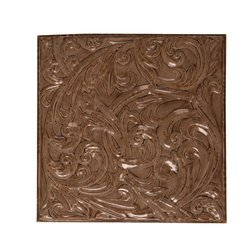 Wilco Imports Metal Wall Decor, Warm Brown, 19-3/4 by 1 by 19-3/4-Inch