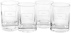 Cathy's Concepts Home State Set of Drinking Glasses 4
