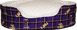 LSU-Louisiana State University Collection Oval Pet Bed - Multi - Size: M