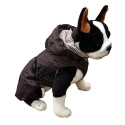 "One for Pets 29"" All Season Removable Fleece Lining Dog Coat - Brown"