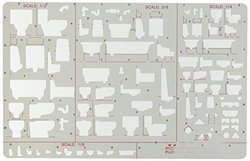 Pickett Plumbing Drafting Templates elevation view 1/8 in. = 1 ft.