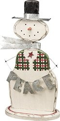 Primitives by Kathy Wooden Christmas Figurine - Snowman