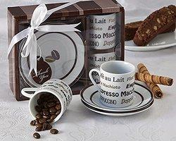 "Artisano Designs ""Euro Cafe"" Espresso Coffee Cup Set"