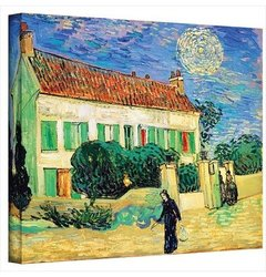 "ArtWall 36""x48"" ''The White House at Night'' Vincent Van Gogh Canvas Print"