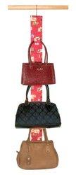 Master Craft Handbag Hangup Deluxe Purse and Scarf Organizer, Red Bag Pattern