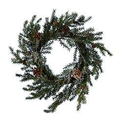 Fantastic Craft Pine Wreath, 18-Inch, Snow