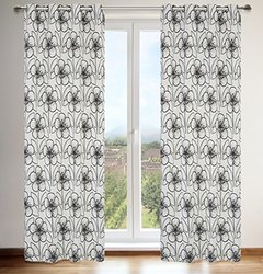 LJ Home Fashions Tania Floral Grommet Curtain Panels - Set of 2
