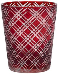 IMPULSE! Monceau Rocks Drinkware (Set of 6), Ruby