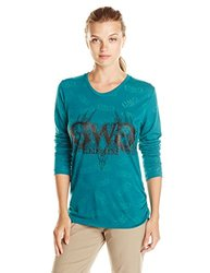 GWG: Girls With Guns Women's Buck Head Burnout, Medium, Teal